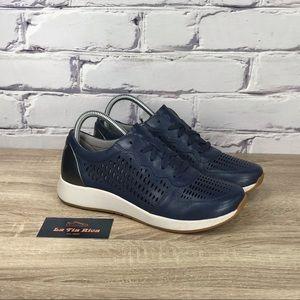 Dansko Charlie Blue Leather Sneakers 38